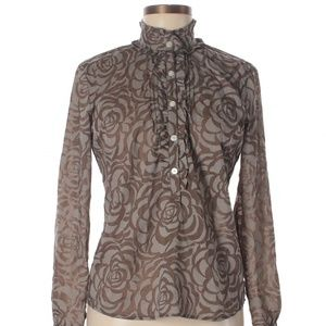 [A42-18] New York Company Victorian Floral Blouse